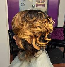 sew in bob hairstyles for black women 50 trendy inverted bob haircuts african american women curly