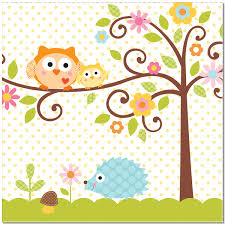 owl baby shower theme owl theme baby shower napkins happi tree baby shower tableware