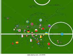 russia football map football soccer republic ireland stock photos football