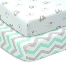 amazon com cuddly cubs set of 2 jersey cotton fitted crib sheets