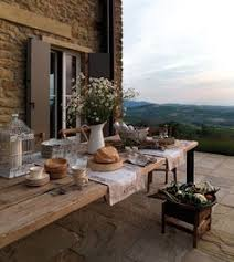 Tuscan Garden Decor Estilo Country Provençal Would Love To Have Lunch Here Today
