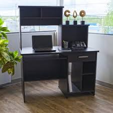 red barrel studio cushman computer desk with bookcase in black