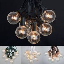 100 ft outdoor globe patio string lights 100 sockets 125 clear
