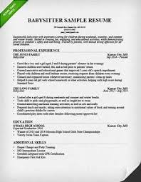 babysitting resume template babysitting resume template pointrobertsvacationrentals