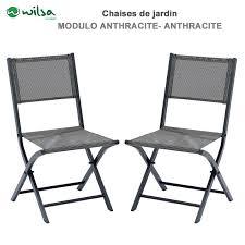 chaises grise chaises de jardin pliantes modulo grise lot de 2 149 00