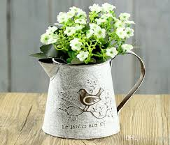 Shabby Chic Flower Pots by Pack French Style White Shabby Pitcher Vintage Rustic Chic Oval