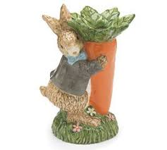Rabbit Home Decor Amazon Com Easter Bunny Rabbit With Carrot Ceramic Floral Vase