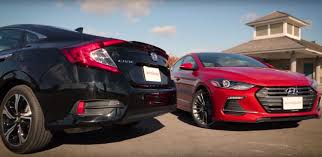 honda civic or hyundai elantra 2017 hyundai elantra sport vs honda civic touring battle of the