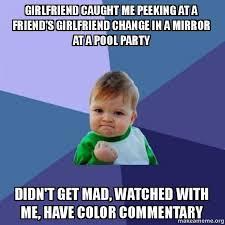 Mad Girlfriend Meme - girlfriend caught me peeking at a friend s girlfriend change in a