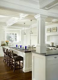 kitchen island with columns architectural kitchen traditional kitchen boston by dalia