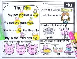 kindergarten reading passage free kindergarten phonics reading passages teaching is a royal