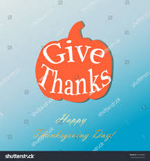 give thanks pumpkin on thanksgiving day stock vector 331099808