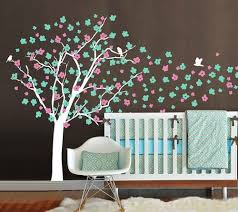 Cherry Blossom Tree Wall Decal For Nursery Cherry Blossom Tree Decal Nursery Tree Decal Tree Wall Decals