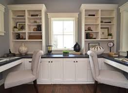 A Luxury Home Office With Oak Design  Modern Home Designs - Custom home office furniture