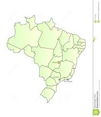 Blank Map Of Brazil by Brazil Map Outlined With Cities Stock Photography Image 13171662