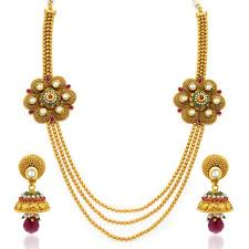 gold antique necklace set images Buy sukkhi trendy antique gold plated kundan necklace set for jpg