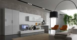 modern and black sweet living room interior design with tv