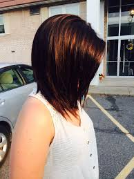 red brown long angled bobs long angled bob dark brown with a red tint love it so much paul