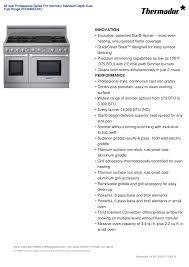 download free pdf for thermador pro harmony prd486gdhu range manual