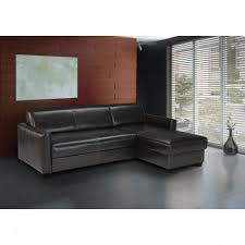 canape d angle noir canapé d angle convertible simili cuir noir winston atout mobilier