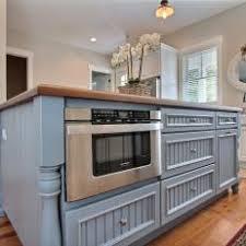 microwave in island in kitchen photos hgtv