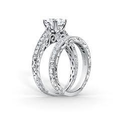 kirk kara wedding band stella award winning tapered engagement ring and wedding band