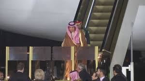crushed by escalator saudi king salman u0027s golden escalator breaks down on visit to russia