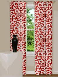 Red And White Curtains For Kitchen by Textured Weave Back Tab Window Curtain Panel Wheat 54