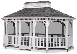 Wooden Screen Gazebos by Vinyl Gazebos Lykens Valley Gazebos And Outdoor Living Products