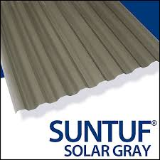 Design Ideas For Suntuf Roofing Suntuf Cor Pc 12 Feet Solar Grey The Home Depot Canada
