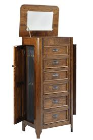 Jewelry Armoire Clearance Transitional Six Drawer Jewelry Armoire With Hidden Storage