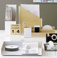 Modern Desk Set Cool Concrete Desk Accessories Collection Digsdigs Modern Office