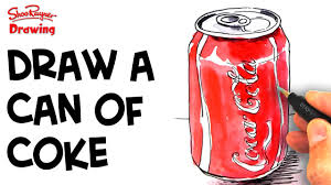 how to draw a can of coke youtube