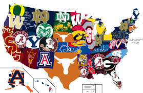 Map Of Winter Haven Florida by Map Of The Most Hated Cfb Team By State