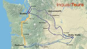 Walla Walla Washington Map by Inquisitours Trips Tours Wine Tours Eastern Washington Trips