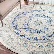 Round Traditional Rugs Nuloom Traditional Persian Vintage Blue Round Rug 7 U002710 Round