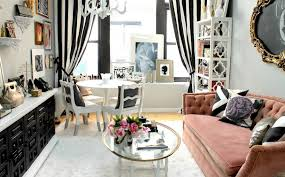 Black And White Stripe Curtains Living Room Black And White Striped Curtains Feminine Touch