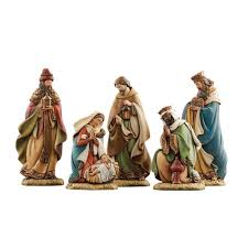 amazon com joseph u0027s studio 5 piece miniature nativity set home