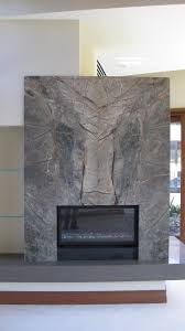 Fireplace Wall Decor by Book Matched Stone Fireplace Wall And Slab Stone Hearth With A