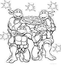 teenage mutant ninja turtles coloring pages free printable 2012