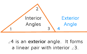 What Is Interior And Exterior Angles Exterior Angle Theorem Kate U0027s Math Lessons