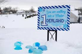 Winter Onederland Party Decorations Boy U0027s Winter Wonederland 1st Birthday Party Spaceships And Laser