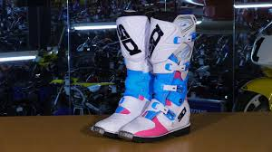 blue motorbike boots sidi x 3 lei women u0027s motorcycle boots review youtube