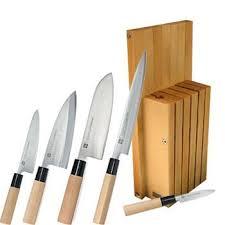 bloc de couteaux de cuisine bloc cuisine japonaise haiku