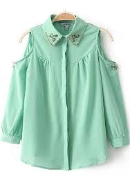 green chiffon blouse light green plain split sleeve chiffon blouse blouses tops