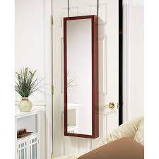 Armoire Cherry Wood Over The Door Mirrored Jewelry Armoire Cherry Free Shipping
