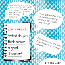 which corner does a st go on kid corner what makes a good teacher tinkerlab