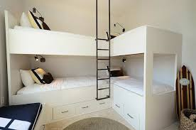 Bunk Rooms Lshaped Corner Bunkbeds White Bunk Bed Corner Bunk - Ladders for bunk beds