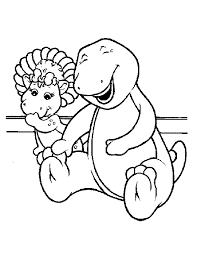 baby bop coloring pages getcoloringpages
