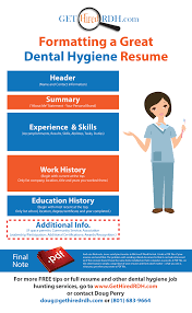 dentist resume examples doug perry archives rdh resumes and career guidance free tips formatting a dental hygiene resume